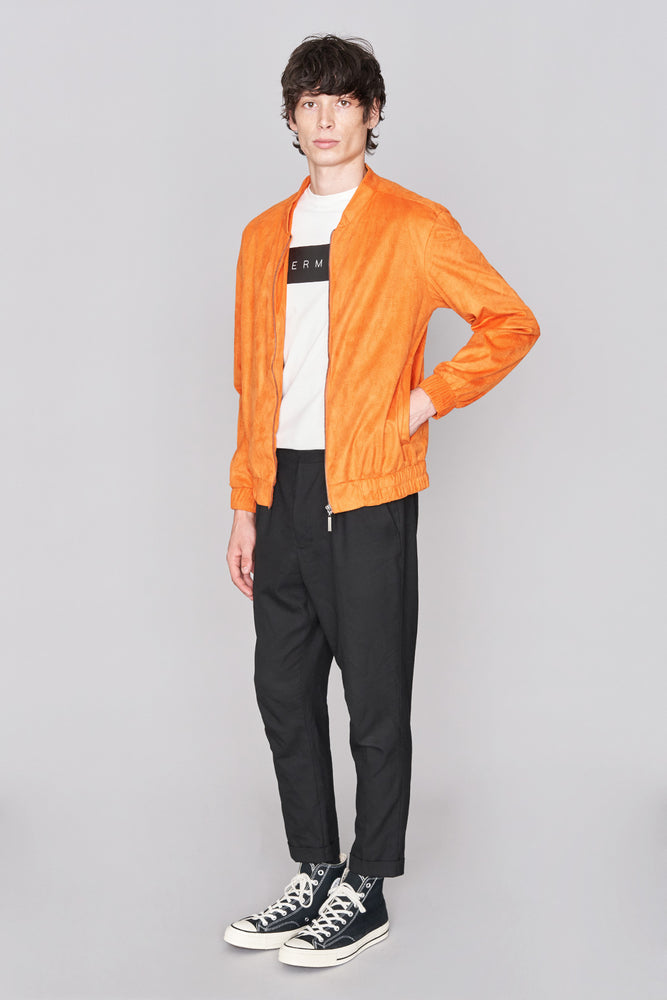 Load image into Gallery viewer, Orange Suedette Jacket - H E R M A N O