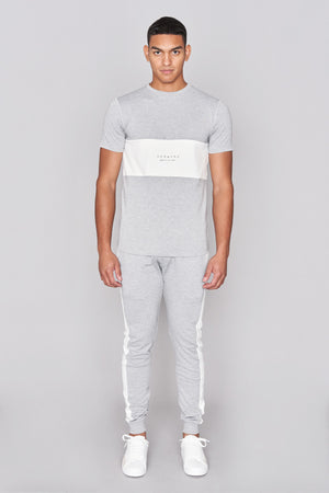 Grey Side Panel Jersey Pant - H E R M A N O