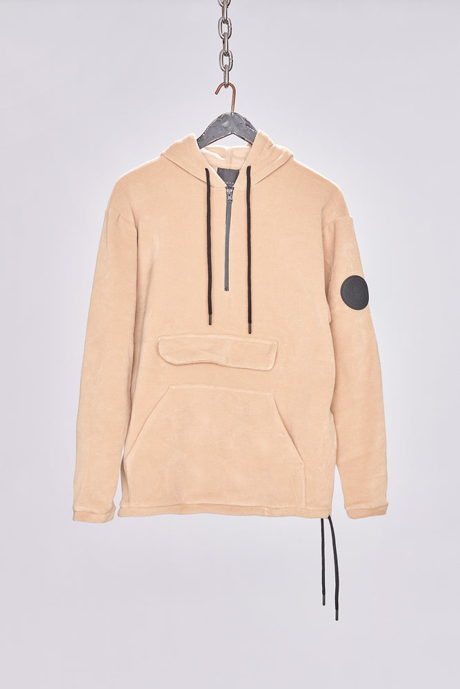Load image into Gallery viewer, Tan Fleece Pullover Regular Fit Hoodie - H E R M A N O