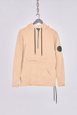Tan Fleece Pullover Regular Fit Hoodie - H E R M A N O