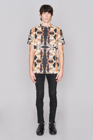 Load image into Gallery viewer, Black All Over Jaguar Print T-shirt - H E R M A N O