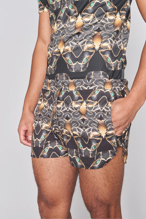 All Over Panther Print Swim Shorts - H E R M A N O