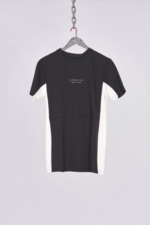 Load image into Gallery viewer, Black Side Panel Jersey T-Shirt - H E R M A N O