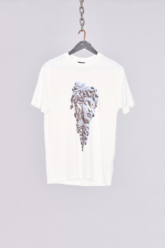 White Greek God Print T-Shirt - H E R M A N O