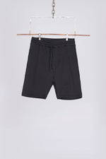 Black logo embossed shorts - H E R M A N O