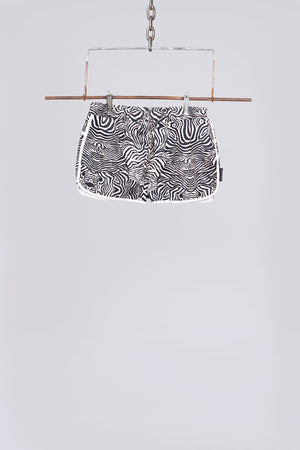 Load image into Gallery viewer, Black zebra print racer swim shorts - H E R M A N O