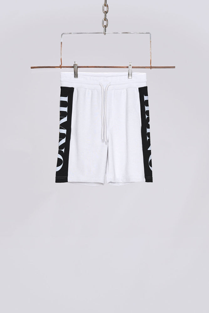 Light grey logo panel shorts - H E R M A N O