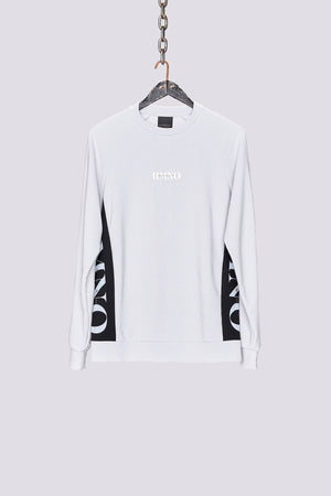 Load image into Gallery viewer, Light grey logo panel regular fit sweatshirt - H E R M A N O