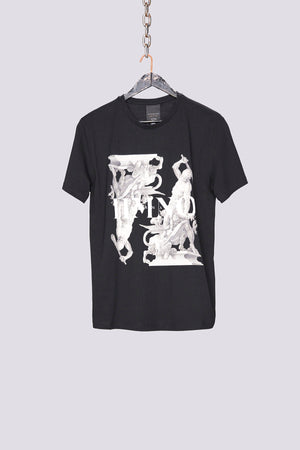 Black greek square print slim fit t-shirt - H E R M A N O