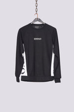 Black logo panel regular fit sweatshirt - H E R M A N O