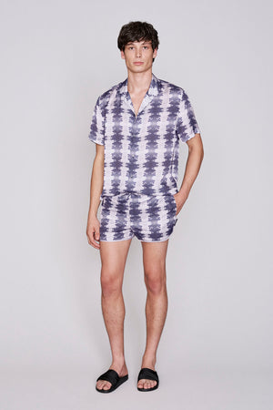 Load image into Gallery viewer, Grey snake print racer swim shorts - H E R M A N O