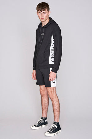 Load image into Gallery viewer, Black logo panel shorts - H E R M A N O