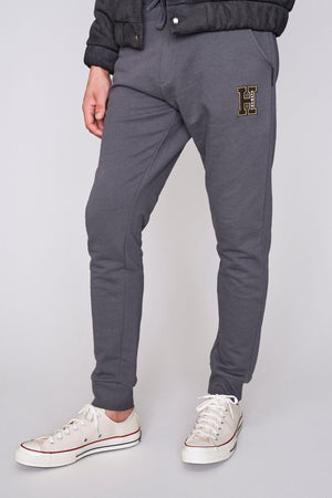 Charcoal drop out regular fit joggers - H E R M A N O