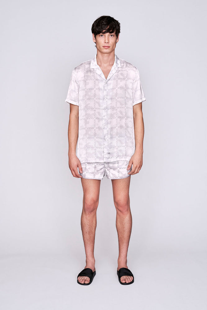 Load image into Gallery viewer, White camo print racer swim shorts - H E R M A N O