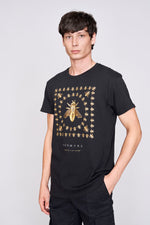 Black bee design t-shirt - H E R M A N O