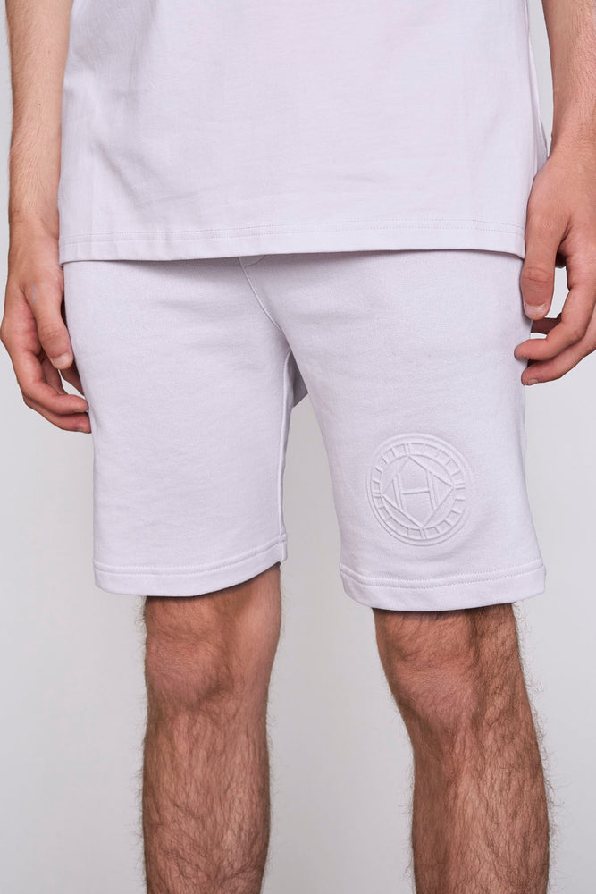 Load image into Gallery viewer, Pink logo embossed shorts - H E R M A N O