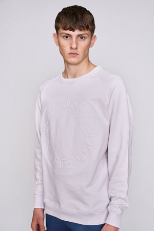 Pink logo embossed regular fit sweatshirt - H E R M A N O