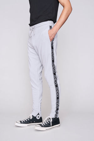 Light grey logo taped regular fit joggers - H E R M A N O