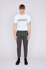 Charcoal grey cropped slim fit trousers - H E R M A N O