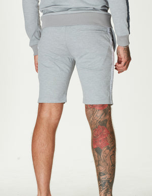 TAPED JERSEY SHORT MARL GREY