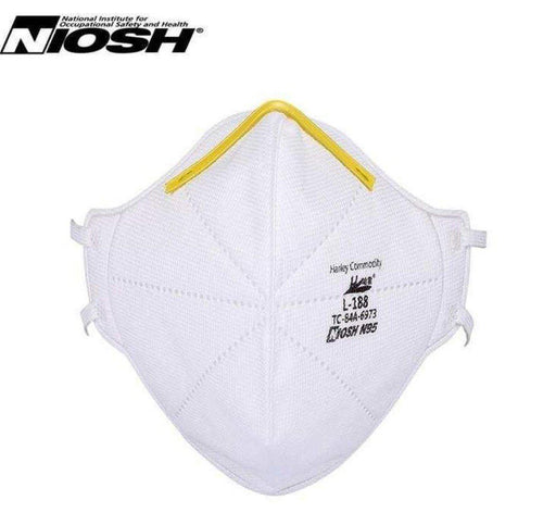 N95 NIOSH Mask - Harley L-188 - Box of 20 (FM-3F) Face Masks Vizocom
