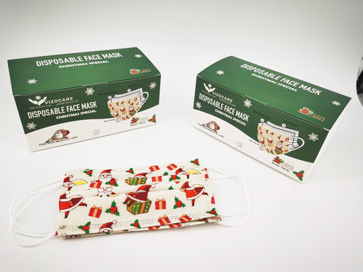 Christmas Special Face Mask – Box of 50 (FM-4C) Face Masks Vizocom