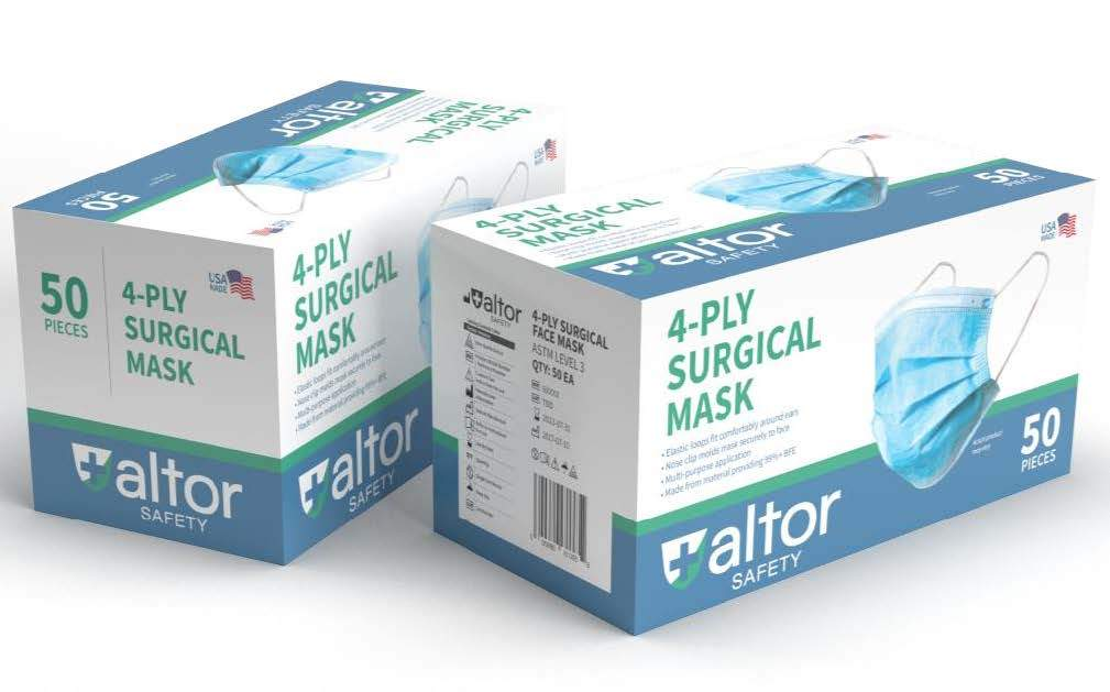 Altor Disposable Level-3 Mask, 4-Ply (Box of 50) (FM-6A) Face Masks Vizocom