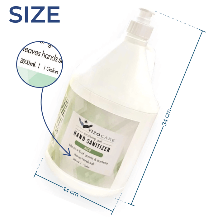 Gel Sanitizer - 1 Gallon - Case of 4 (CS-9) Sanitizers Vizocom