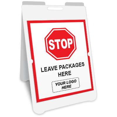 Stop Leave Packages Here A-Frame Sign Awareness Posters Graphic Products