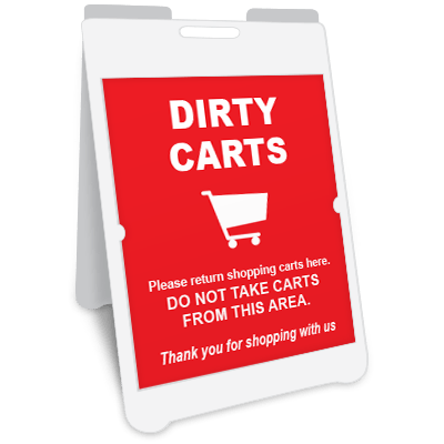 Dirty Carts A-Frame Sign Awareness Posters Graphic Products