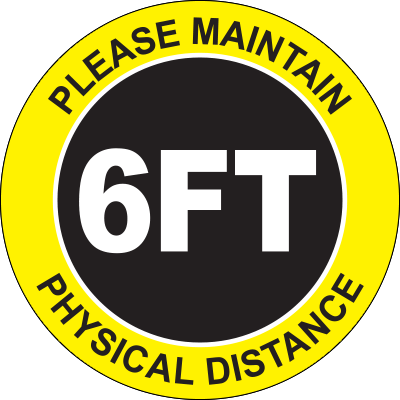 Please Maintain Physical Distance 6FT Floor Sign Floor Marking Graphic Products