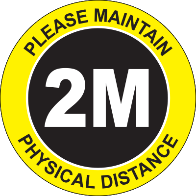 Please Maintain Physical Distance 2M Floor Sign Signage Graphic Products