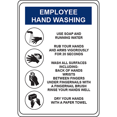 Employee Hand Washing Sign Signage Graphic Products