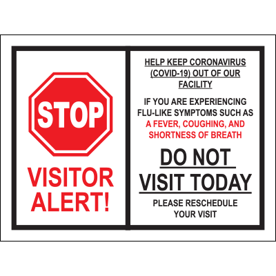 Visitor Alert Poster Awareness Posters Graphic Products