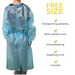 Disposable isolation gown, Level 1 - pack of 10 (DG-5) Gowns & Coveralls Vizocom