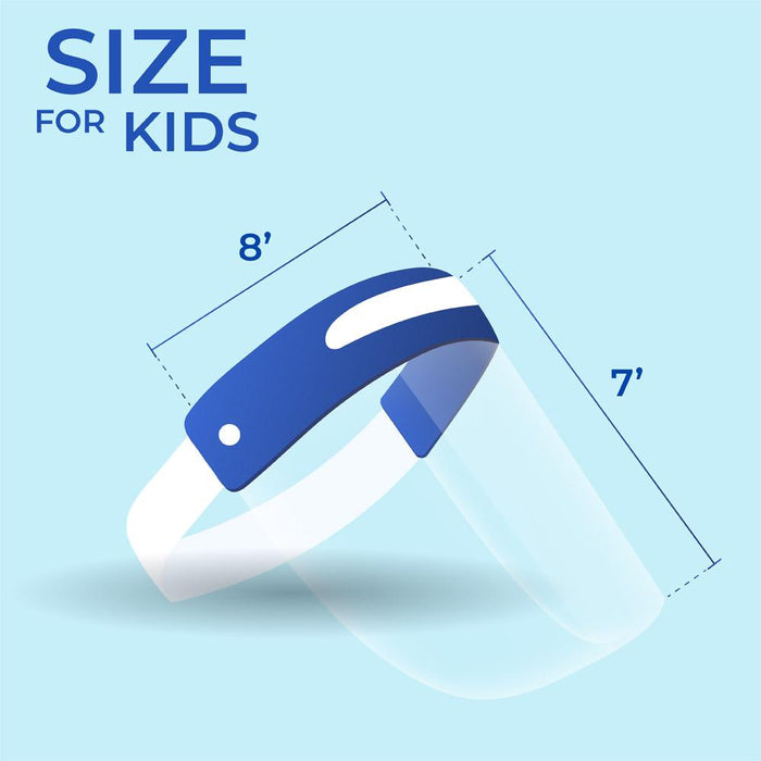 Child Face Shield - Box of 10 (PG-1) Medical & Protective Googles Vizocom