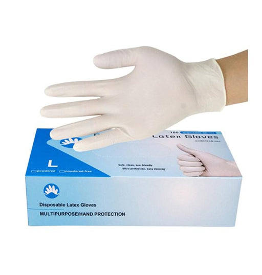Disposable Latex Glove - Box of 100 (MG-3) Medical Gloves Vizocom