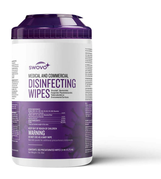 EPA Disinfecting Wipes - Canister (80 or 160 Sheets) - Case of 6 or 12 Packs (BW-8B/8C) Sanitizers Vizocom