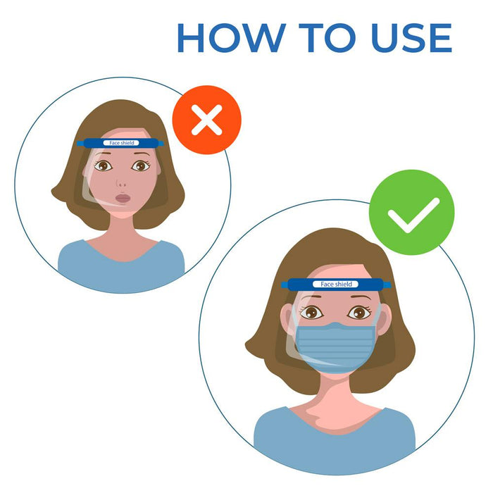 Face Shield - Box of 10 (PG-2) Medical & Protective Googles Vizocom