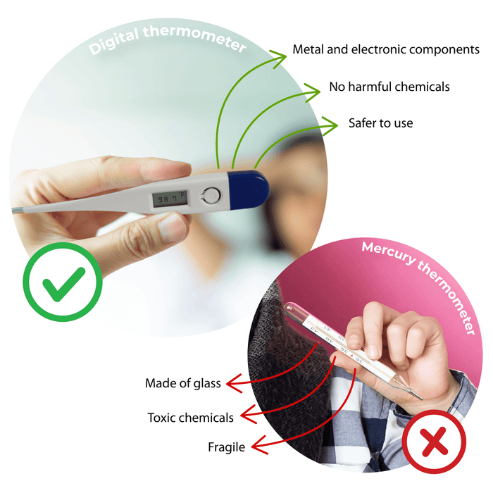 Digital Oral Thermometer (TI-6) Test Instruments & Kits Vizocom
