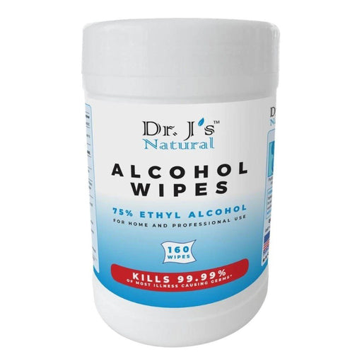 Dr. J's Alcohol Wipes 160ct - Case of 12 Packs (BW-5C) Sanitizers Vizocom