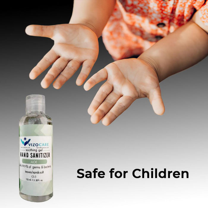 Hand Sanitizer - 100ml (3.38 oz) - Case of 40 (CS-3) Sanitizers Vizocom