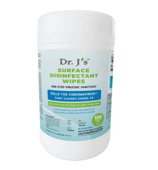 Dr. J's Surface Disinfectant Wipes 100ct - Case of 12 Packs (BW-9B) Sanitizers Vizocom
