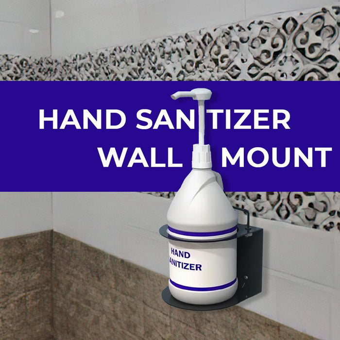 Gallon Pump Bottle Sanitizer Stand – Wall Mount - Pack of 2 (DS-5) Sanitizers Vizocom