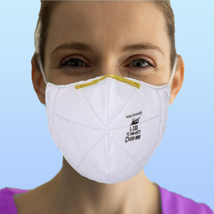 N95 NIOSH Mask - Harley L-188 - Box of 20 (FM-2F) Face Masks Vizocom