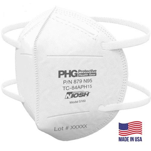 N95 NIOSH Mask - PHG 879 - Box of 50 (FM-2H) Face Masks Vizocom