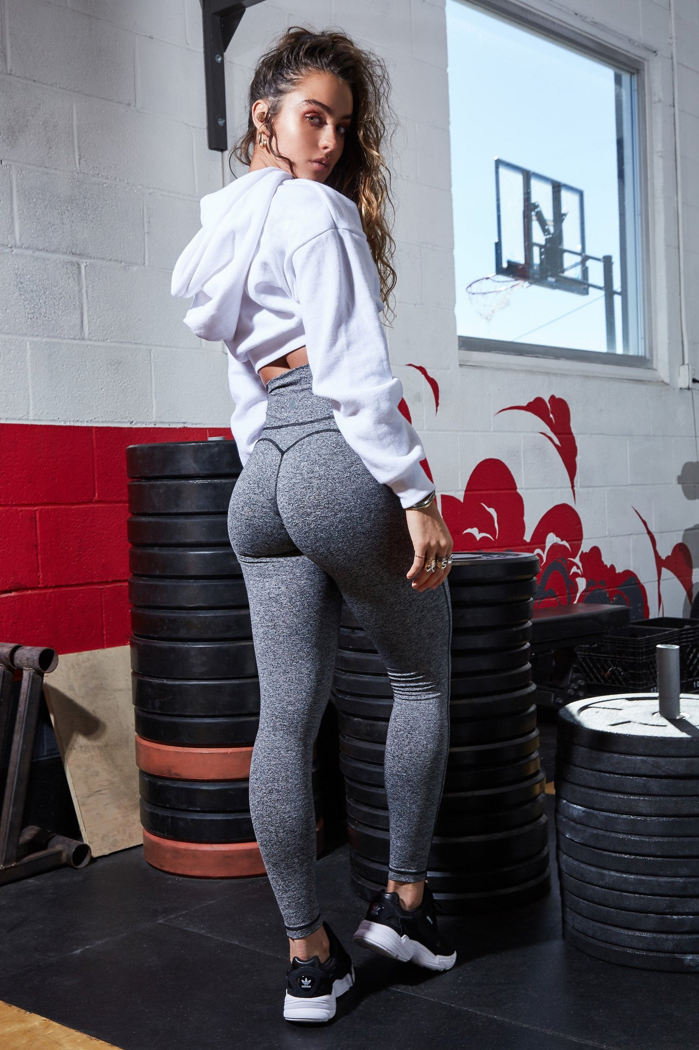 High Rise Butt Lift Active Leggings - Grey
