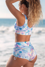 Gym to Swim Shorts - White Floral