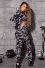 Mesh Cut-Out Fleece Joggers - Butterfly Camo