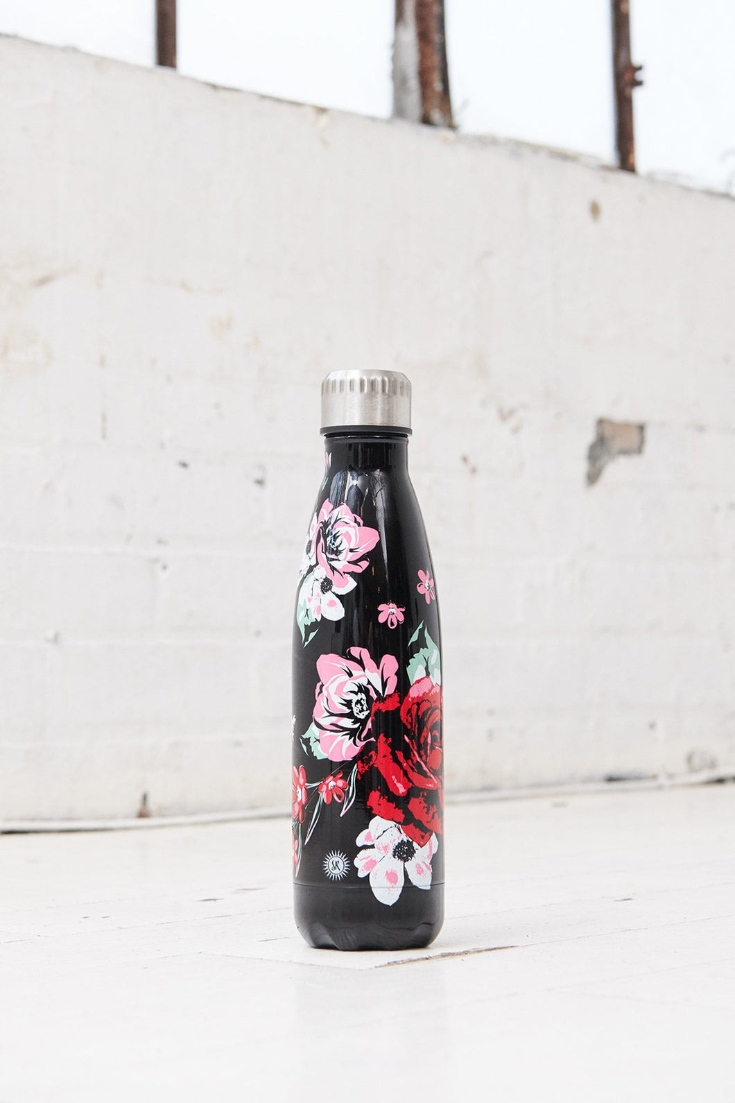 2019 Floral Water Bottle - Black